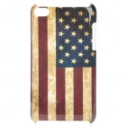 Vintage U.S. Flag Style Protective PC Back Case for Ipod Touch 4 - Red + Blue + Brown