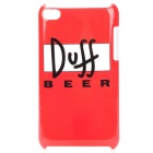 Fashion Duff Beer Style Protective PC Back Case for iPod Touch 4 - Red + Black + White
