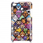 Cartoon Animals Pattern Protective PC Back Case for Ipod Touch 4 - Purple + Brown + White