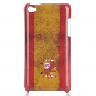 Vintage Spanish Flag Style Protective PC Back Case for Ipod Touch 4 - Red + Brown