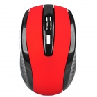 2.4GHz Wireless 1000 / 1600 DPI Optical Mouse w/ Receiver - Black + Red (2 x AAA)