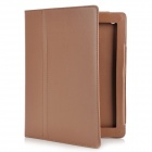Protective PU Leather Case for The New iPad - Coffee