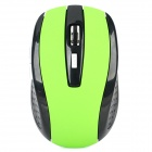 971 2.4GHz 1000 / 1600DPI Wireless Optical Mouse w/ USB Receiver - Green + Black (2 x AAA)