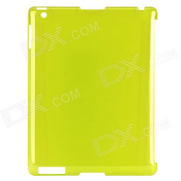 Ultra-Thin Protective PC Back Case for Ipad 2 / The New Ipad - Yellow Green