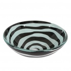 Black and White Tempered Glass Vessel Sink With Pop-up and Mounting Ring