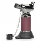 Seat Style Windproof Butane Jet Torch Lighter - Brown