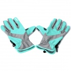 WONNY Outdoor Sports Body Building Non-slip Long Fingers Gloves - Green + Grey (Pair)