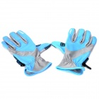Outdoor Sports Body Building Non-slip Long Fingers Gloves - Acid Blue (Pair)
