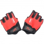 Outdoor UV Protection Waterproof Fishing Gloves - Red + Black