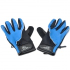 Outdoor Sports Long Fingers Non-slip Gloves - Blue + Black