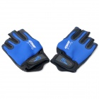 Outdoor UV Protection Waterproof Fishing Gloves - Blue + Black (Free Size)