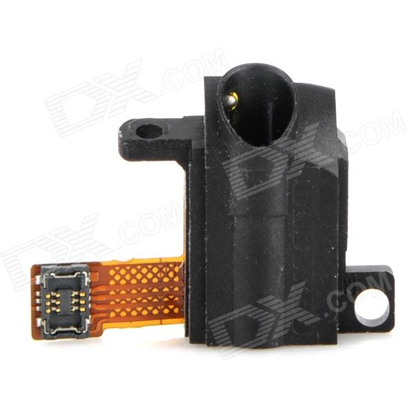 Audio Jack Plug Flex Cable for Ipod Touch 4 - Black  replacement headphone audio jack flex cable for iphone 4 cdma
