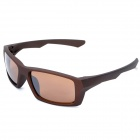 Outdoor Sports PC Resin Lens UV400 Protection Sunglasses - Brown