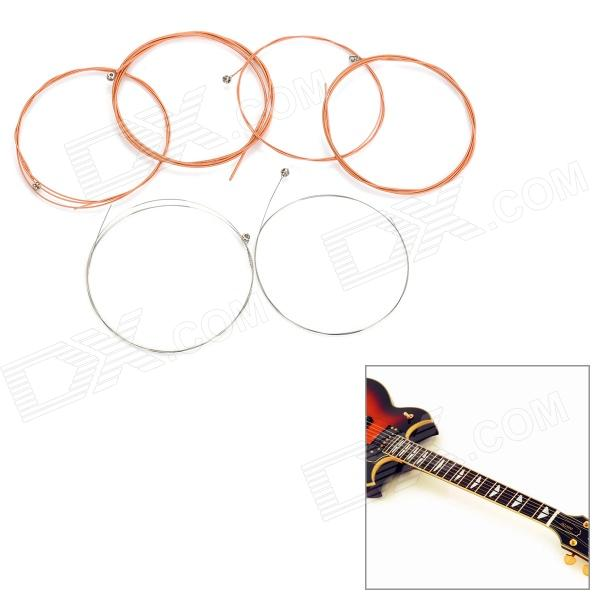 Replacement Copper Guitar Strings Set (6-String Set) tooyful newest 6 string copper tremolo vibrato bridge tailpiece hollowbody archtop for professional bass guitar accesoory golden