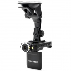 "CARCAM K2000L 2.0"" LCD 5.0MP Wide Angle Car DVR Camcorder w/ TF / Mini HDMI - Black"