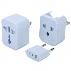 Compact Universal Travel Power Plug Adapter - White (US / UK / EU / AU)