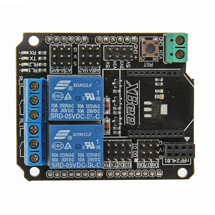 2 Channel Relay Shield Module for Arduino (XBee / BTBee Interface) gsm gprs shield wireless extension board module w antenna adapter for arduino