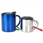 Outdoor Camping Metal Cups with Carabiner Clips (130ml / 220ml)
