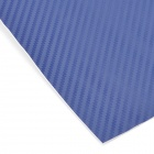 Woven Pattern 3D Carbon Fiber Paper Decoration Sheet Car Sticker - Blue (20 x 30cm)