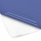 Woven Pattern 3D Carbon Fiber Paper Decoration Sheet Car Sticker - Blue (20 x 50cm)