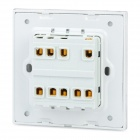 SMEONG Glass Panel Three Gang Power Control Wall Switch - White