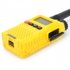 "Baofeng BF-UV3R+ 1.3"" LCD 3W 136~174MHz / 400~470MHz Dual Band Walkie Talkie - Yellow + Black"