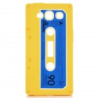 Protective Cassette Style Silicone Back Case for Samsung i9300 - Yellow