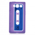 Protective Cassette Style Silicone Back Case for Samsung i9300 - Purple