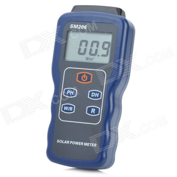 1.8'' LCD Portable Solar Power Meter - Blue + Grey (1 x 9V)