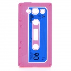 Protective Cassette Style Silicone Back Case for Samsung i9300 - Deep Pink