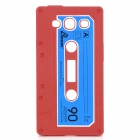 Protective Cassette Style Silicone Back Case for Samsung i9300 - Red
