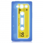 Protective Cassette Style Silicone Back Case for Samsung i9300 - Blue
