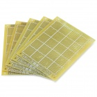 DIY Glass Fiber Prototyping PCB Universal Board - Yellow (5-Piece Pack)