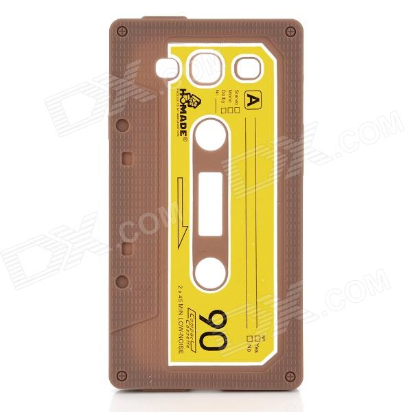 Protective Cassette Style Silicone Back Case for Samsung i9300 - Coffee