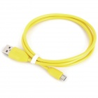 USB Male to Micro USB Male Charging Data Cable for Cellphones - Yellow (93cm)