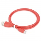 USB 2.0 Male to Micro USB Male Charging Data Cable for Cellphones - Red (93cm)