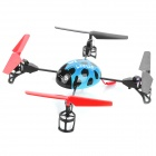 Creative 2.4GHz Remote Control 4-CH Beetle Style Flying UFO w/ Gyro - Blue + Black + Red