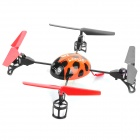 Creative 2.4GHz Remote Control 4-CH Beetle Style Flying UFO w/ Gyro - Orange + Black + Red