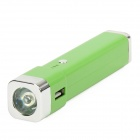 T-1 2-in-1 2200mAh Mobile Power Battery Charger + White Light LED Torch - Green