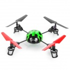 V929 2.4GHz Remote Control 4-CH Beetle Style Flying UFO - Green + Black + Red