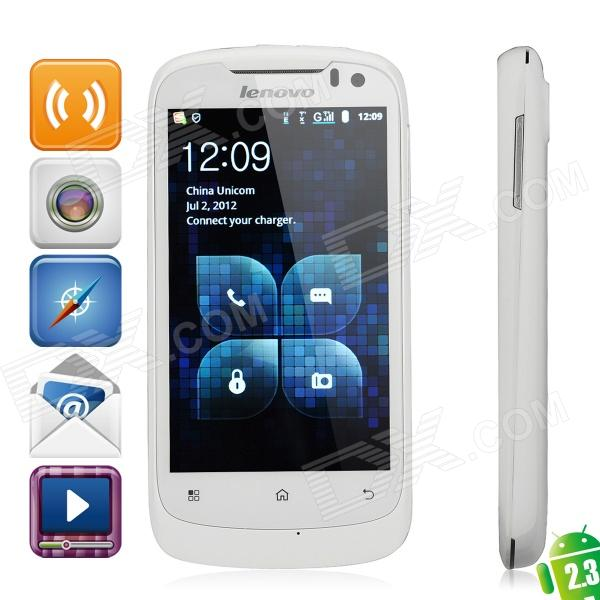 Lenovo A520 Android 2.3 WCDMA Bar Phone w/ 4.0 Capacitive, GPS, Wi-Fi and Dual-SIM - White (4GB TF) lenovo a750 android 2 3 wcdma cellphone w 4 0 capacitive gps wi fi and dual sim black