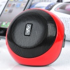 Q3 Fashion Mini Bluetooth V2.1+ EDR Wireless Speaker - Red + Black