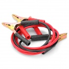 500A Car Auto Battery Booster Jumper Cables w/ Clamp - Black + Red (2m)