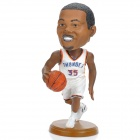 NBA Star Kevin Durant Action Figure Model Doll Toy - White + Brown