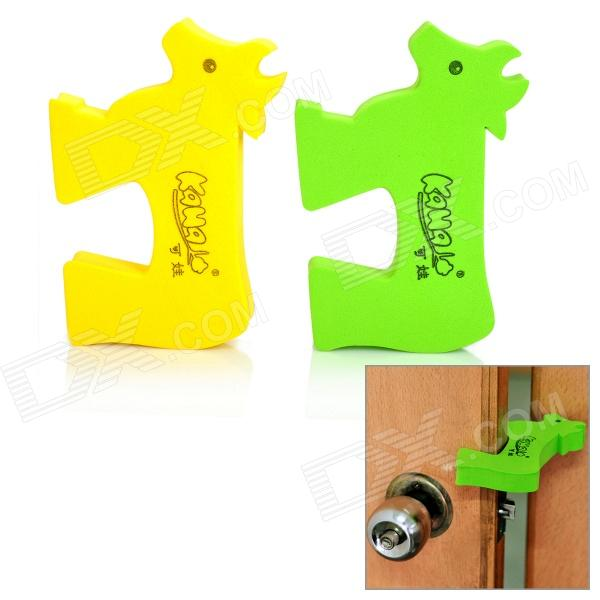 KaWa Baby Safety Door Stopper Finger Pinch Guard - Green + Yellow (2-Pack) защитные накладки для дома happy baby фиксатор для двери pull out door stopper