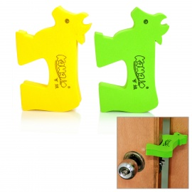 KaWa Baby Safety Door Stopper Finger Pinch Guard - Green + Yellow (2-Pack)
