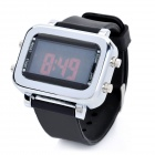 Silicone Band Colorful Backlight LED Digital Wrist Watch - Black (1 x CR2032)