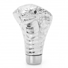 Cool Cobra Style 2-LED 3-Mode Blue Light Car Shift Gear Knob - Silver