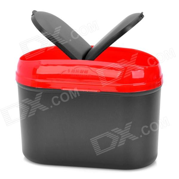 все цены на Car Trash Bin Can Garbage Dust Case Holder - Black + Red (2.5L) онлайн