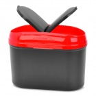 Car Trash Bin Can Garbage Dust Case Holder - Black + Red (2.5L)